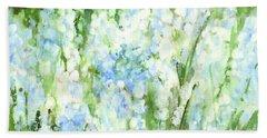 Light Blue Grape Hyacinth. Beach Sheet