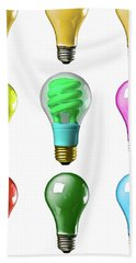 Light Bulbs Of A Different Color Beach Towel by Bob Orsillo