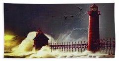 Light House 07 Beach Towel by Gull G