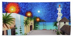 Light House Playa Del Carmen Version II Beach Sheet