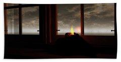 Light In The Window Beach Towel
