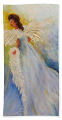 Light Of Grace,angel Beach Towel