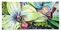 Light Of Orchids Beach Towel by Mindy Newman