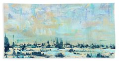Beach Towel featuring the painting Light Over Broad Creek by Kathryn Riley Parker