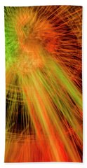 Light Painting At Night Beach Towel