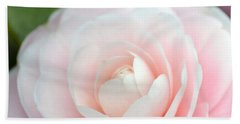 Light Pink Camellia Flower Beach Towel