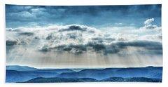 Beach Sheet featuring the photograph Light Rains Down by Thomas R Fletcher