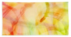 Beach Towel featuring the painting Light Soul by Lucia Sirna