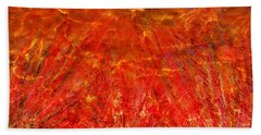 Beach Towel featuring the mixed media Light Storm by Sami Tiainen