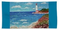 Beach Towel featuring the painting Light The Way by Sonya Nancy Capling-Bacle