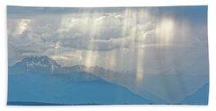 Light Through Clouds Beach Sheet