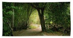 Light Through The Tree Tunnel Beach Towel