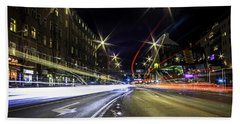 Beach Towel featuring the photograph Light Trails 2 by Nicklas Gustafsson