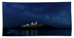 Light Up Nubble Lighthouse Beach Sheet