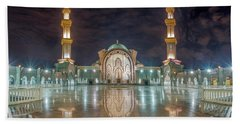 Lighted Federal Territory Mosque  Beach Towel
