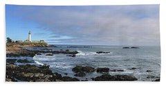 Lighthouse And Coastview Beach Towel
