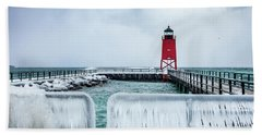 Lighthouse And Ice Beach Sheet