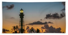 Beach Towel featuring the photograph Lighthouse At Dawn #1 by Tom Claud