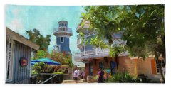 Lighthouse At Seaport Village Beach Towel