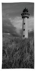 Lighthouse Bw Beach Sheet