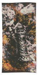 Lighthouse From Rust Harbour Beach Towel