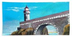 Lighthouse In Brest, France Beach Sheet