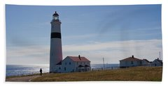 Lighthouse Labrador Beach Towel