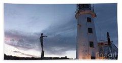 Lighthouse Lady 2 Beach Towel