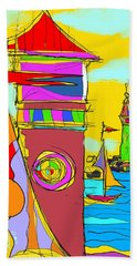 Lighthouse Landing Beach Towel
