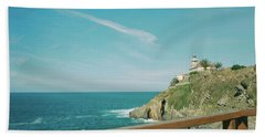 Lighthouse Over The Ocean Beach Towel