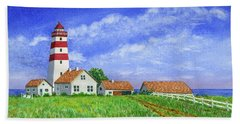 Lighthouse Pasture Beach Sheet by Val Miller
