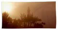 Lighthouse Point Sunrise Beach Towel
