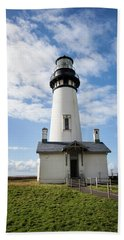 Beach Towel featuring the photograph Lighthouse View by Mary Jo Allen