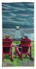Lighthouse Lovers Beach Sheet