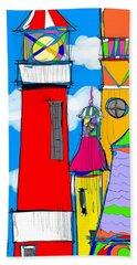 Lighthouse Carnival Beach Sheet