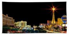 Lighting Up Vegas Beach Towel