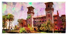 Beach Towel featuring the digital art Lightner Museum St Augustine Florida by Bob Pardue