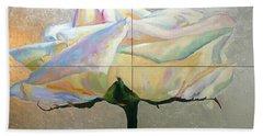 Beach Towel featuring the painting Lightness by Eva Konya