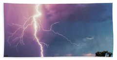 Beach Towel featuring the photograph Lightning Dancer by Rick Furmanek