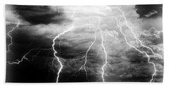 Lightning Storm Over The Plains Beach Sheet