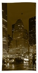 Lights Of 5th Ave. Beach Towel