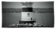 Lights Out-bw Beach Towel