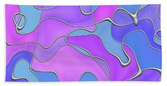 Beach Towel featuring the digital art Lignes En Folie - 02a by Variance Collections