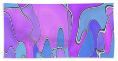 Beach Towel featuring the digital art Lignes En Folie - 03a by Variance Collections