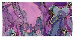 Beach Towel featuring the digital art Lignes En Folie - 13a by Variance Collections