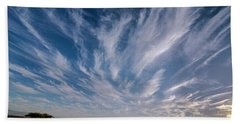 Like Feathers In The Sky Beach Towel