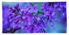 Lilac Blues Beach Sheet