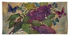 Lilac Dreams Illustrated Butterfly Beach Sheet