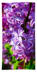 Lilac In The Sun Beach Towel by Julia Wilcox