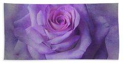 Lilac Purple Rose Beach Towel